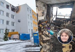 Požár bytu v Horních Počernicích zničil všechno.