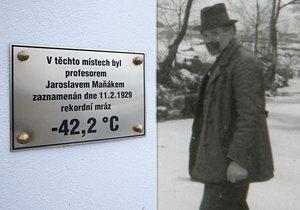 Profesor Jaroslav Maňák, jenž ve Stecherově mlýně v Litvínovících naměřil rekord