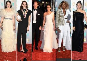 Hollywoodské herečky zastínila vévodkyně Kate na cenách BAFTA.