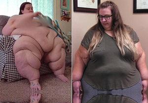 Lacey za rok zhubla 116 kilogramů.