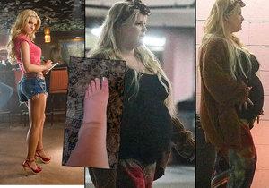 Zpěvačka Jessica Simpsonová trpí: Před porodem extrémně přibrala a sotva chodí!