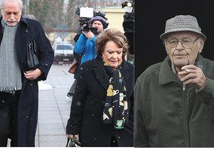 Pohřeb Václava Vorlíčka: Rozloučit se přišli jeho nejbližší přátelé. Mimo jiné režisér Zdeněk Zelenka nebo herečka Jiřina Bohdalová.