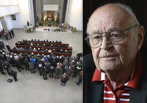 Pohřeb režiséra Václava Vorlíčka v pražských Strašnicích.
