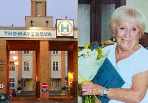 Eva Kubelková pracuje v Thomayerově nemocnici neuvěřitelných 64 let.