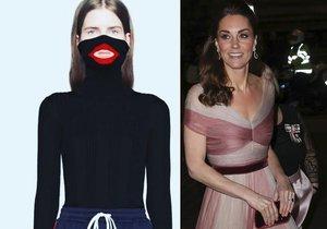 Krásná Kate tím, že nosí šaty od Gucciho, prý podporuje rasismus!