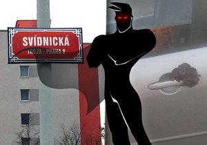 Ve Svídnické ulici v Bohnicích už zase řádí fekální fantom!