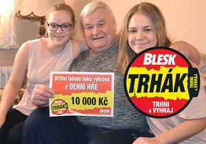 Radost na Plzeňsku! První výhra v životě Vladimíra Milera (72) z Plas. V Trháku utrhl 10 000 Kč