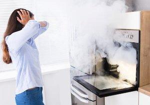 Pečení v troubě dokáže vzduch v kuchyni proměnit v extrémně znečištěný.
