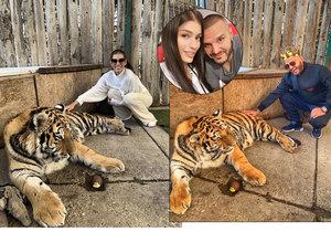 Těhotná Jasmina vlezla do výběhu k tygrovi! Bloknu vás, když budete mít blbé řeči, vyhrožovala!