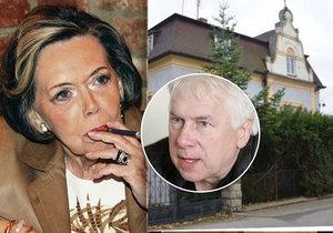 Zdeněk Podskalský ml.: Chystá se koupit polovinu vily po Jiřině Jiráskové.