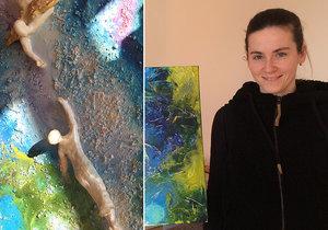 Ani handicap, ani výhoda. Lucie (30) žije s lehkou formou autismu, svou fantazii převtěluje do obrazů