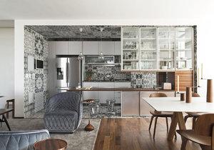 Moderní apartmán se stylovou kuchyní a  prodlouženým obývacím pokojem