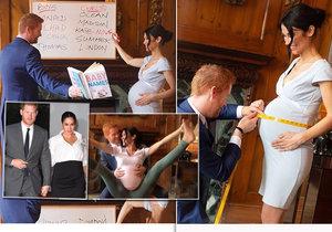 Nejbizarnější fotky Meghan a Harryho! Zachytily je u odvážných póz a výběru jména pro miminko!
