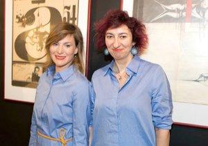 Babčáková a Krobotová na tiskové konferenci k seriálu Zkáza Dejvického divadla