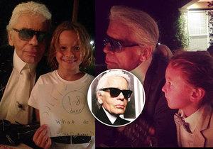 Karl Lagerfeld si malého Hudsona velmi oblíbil.
