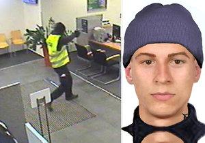 Dva zloději přepadli banku ve Strašnicích, takto má vypadat jeden z nich.