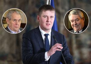 Do ministra zahraničí Petříčka (ČSSD) dál šijí prezident Miloš Zeman i šéf KSČM Filip