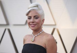 Lady Gaga na předávání Oscarů za rok 2018.