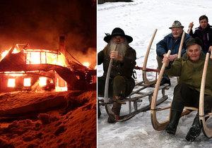 Při požáru zahynul oblíbený jelenář Josef Tylš.