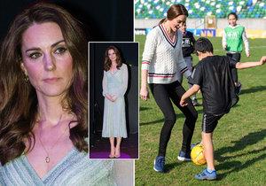 Strach o vévodkyni Kate: Nebezpečně hubne! Nohy a ruce jako hůlky, kostnatý hrudník