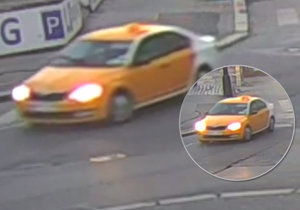 Policisté pátrají po řidiči vozidla v provedení taxi, který 25. února srazil ženu na přechodu a způsobil ji zlomeninu kotníku.