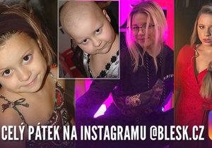 Mína celý den na instagramu Blesk.cz