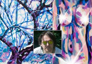 Jakubova tvorba vychází z vizí jiných dimenzí. Sám to vnímá tak, že má v sobě okno na druhou stranu světa, a maluje to, co v něm vidí.