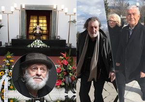 Na pohřeb Jiřího Pechy (†74) přispěchala herecká elita i spousta fanoušků.