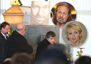 Pohřeb Jiřího Pomeje (†54): Loučila se i Bartošová!