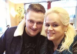 Monika Štiková se svým kolouchem Petrem Biniasem