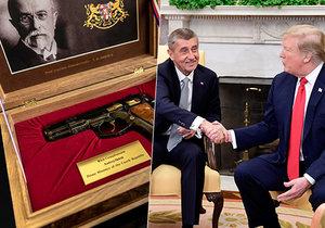 Prezident USA Donald Trump Dostal od Babiše pistoli. Jeho žena Melania granáty