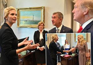 Za Babišem v Bílém domě přivedli i Ivanku Trump: Lákal ji do Česka. A předal i Zemanovo pozvání