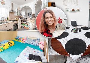 Míša Nosková ukázala, jak bydlí v domku u rodičů.