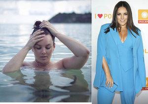 Ewa Farna se odhalila nahá a nenalíčená ve vodě.