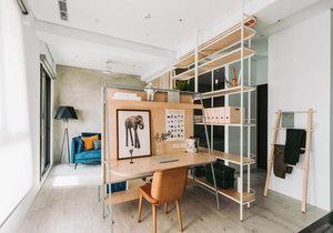 Malý byt se podařilo chytře rozdělit podle funkce aniž by bylo nutné stavět zdi