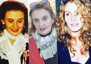 Eva Holubová prý v mládí připomínala Julii Roberts...