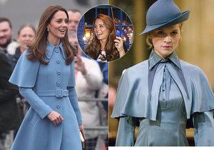 Vévodkyně Kate okopírovala outfit od čarodějky z Harryho Pottera!? Svět si z podoby utahuje!