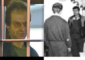 Roman Ševčík ve vězení a při rekonstrukci (zády) na místě vraždy.