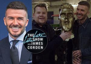 Drsný vtípek Jamese Cordena David Beckham málem neustál...