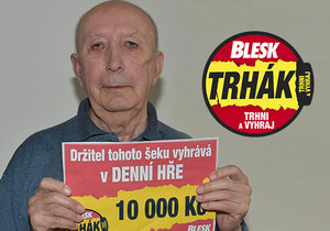 Výherce deseti tisíc korun ve hře Trhák Jan Kadlec.