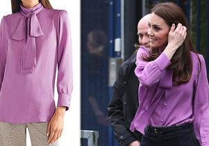 Vévodkyně Kate si oblékla blůzu obráceně