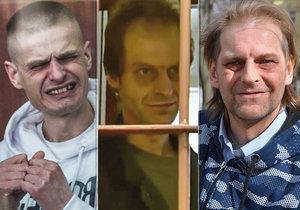 Roman Ševčík (uprostřed a vpravo) strávil 30 let ve vězení za dvojnásobnou vraždu. Vlevo Polák Tomasz Komenda, který kvůli justičnímu omylu seděl 18 let.