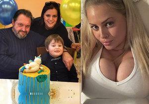 Charlotte Štiková zmeškala narozeniny Quentina Kokty kvůli otravě jídlem.