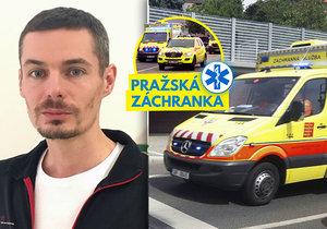 Petr Zvolský jezdí se sanitkou pro pražskou záchranku 5 let.