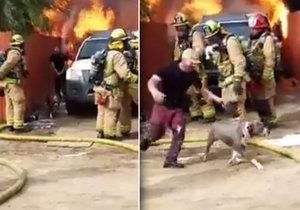 José Guzmán se neohroženě vrhl pro psa uvězněného v hořícím domě.