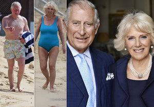 Princ Charles a vévodkyně z Cornwallu se ukázali v plavkách!
