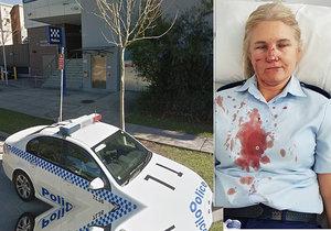 Muž napadl policistku na stanici.