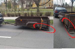 Řidič (52) z Opavy vyřešil chybějící kolečko u vozíku vskutku originálně - přimontoval místo něj skateboard.