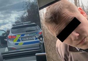 Policista zastavil řidiče na nebezpečném úseku a neměl reflexní prvky ani uniformu. Řidič ho drsně vyškolil.
