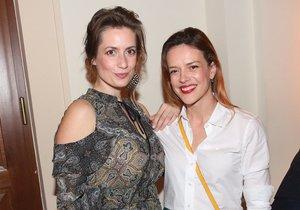 Andrea Kerestešová a Lenka Zahradnická se vyrazily bavit do společnosti.
